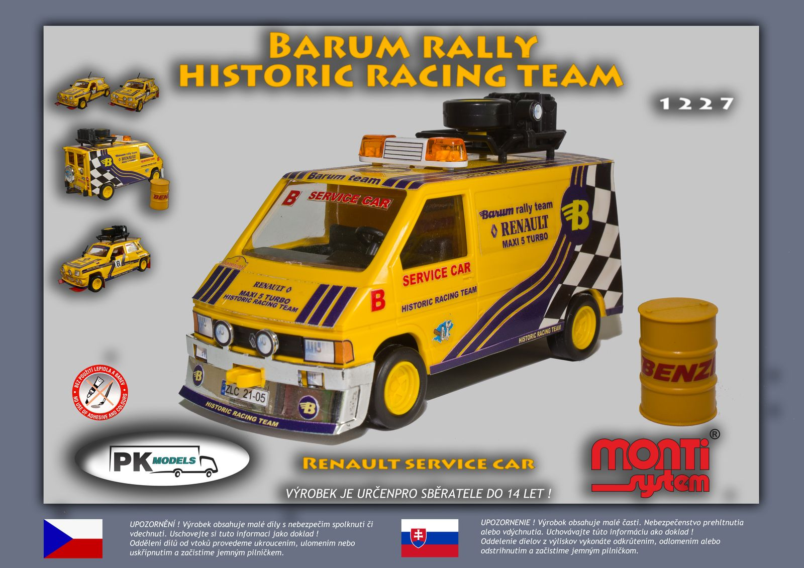 Renault service car Barum rally historic racing